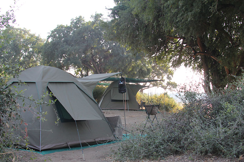 guide tent with guest tent behind